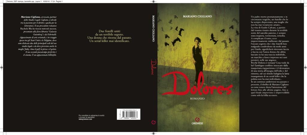 L'Autore Mariano Cigliano presenta il suo nuovo libro. Dolores
