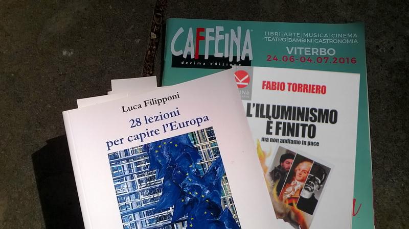 Caffeina Polis di G.Masotti, parla dell'Europa con L. Filipponi e F. Torriero