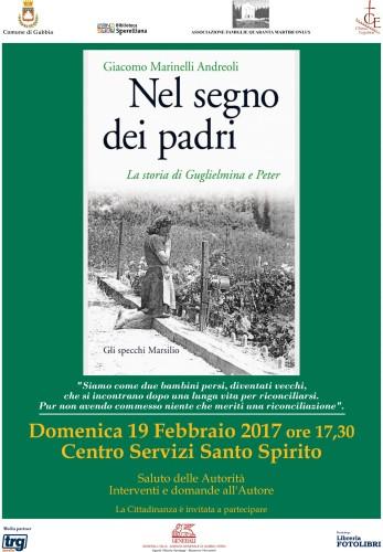 """""""NEL SEGNO DEI PADRI"""" di Giacomo Marinelli Andreoli (Marsilio editore)"""