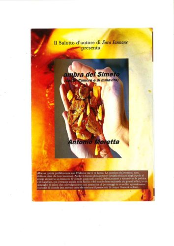 Ambra del Simeto di Antonio Moretta nel salotto d'Autore di Sara Iannone